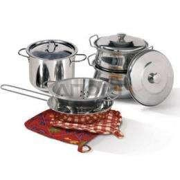 COOKING ESSENTIALS 10 PC STAINLESS STEEL SET