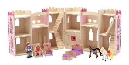 Castillo de princesa plegable y portátil - Melissa and Doug - Fold & Go Princess Castle