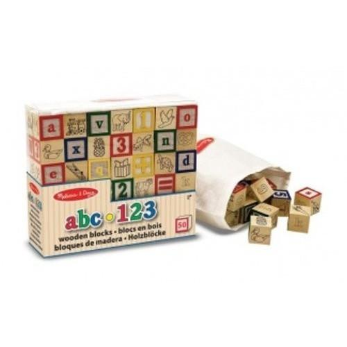 ABC 123 bloques de madera - Melissa & Doug- ABC 123 Wooden blocks