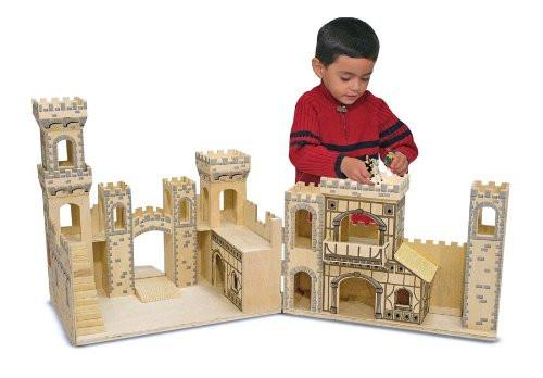 Castillo medieval plegable - Melissa and Doug - Folding Medieval Castle