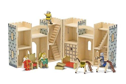 Castillo de madera plegable y portátil - Melissa and Doug - Fold & Go Castle