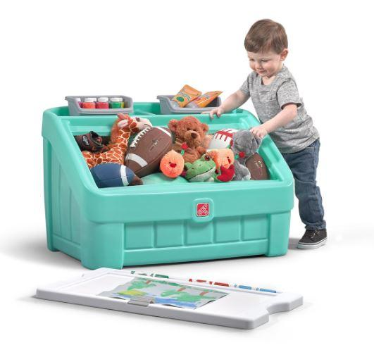 2 in 1 TOY BOX & ART LID (MINT)