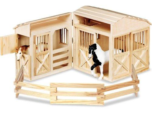 Establo plegable para caballos, para casa de muñecas - Melissa and Doug - Folding Horse Stable
