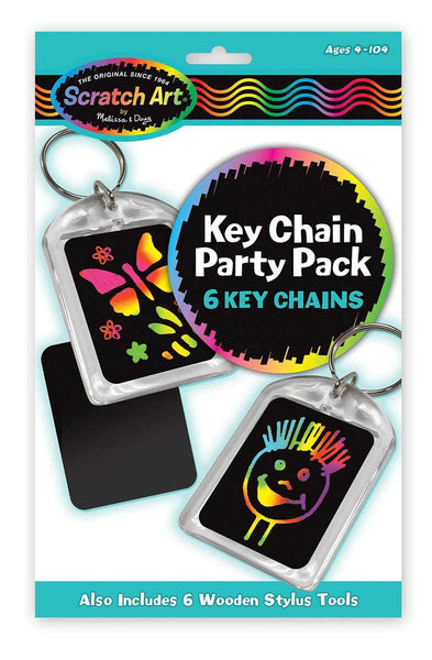KEYCHAIN SCRATCH ART PARTY PACK