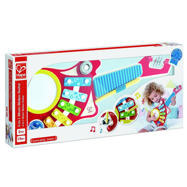 6-IN-1 MUSIC MAKER - HAPE  - GUITARRA 6 EN 1
