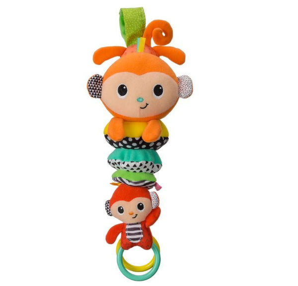 ABRAZA Y TIRA MUSICAL DE CHANGUITOS - INFANTINO - HUG & TUG MUSICAL MONKEYS