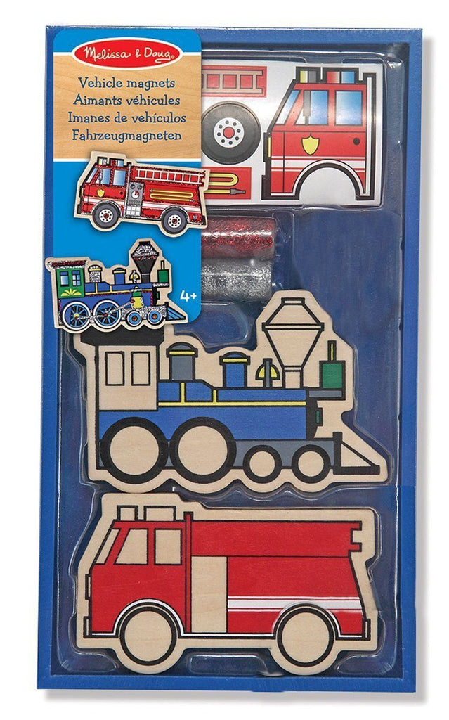 Imanes De Vehiculos - Melissa & Doug- Panels & Laces - Vehicles Magnets