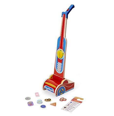 ASPIRADORA DE MADERA - MELISSA & DOUG - LET´S PLAY HOUSE! VACUUM CLEANER
