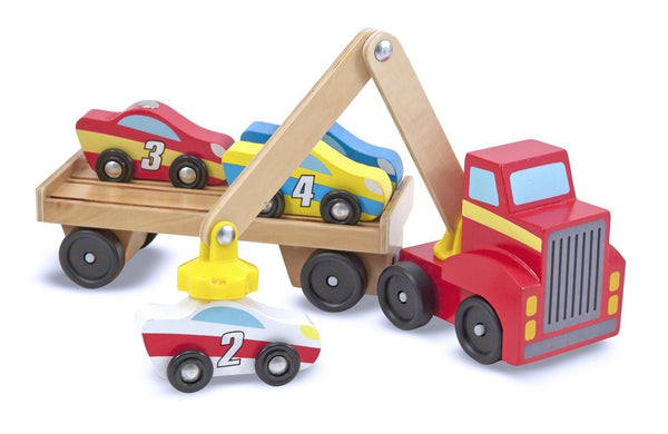 Cargador magnetico de autos - Melissa & Doug - Magnetic Car Loader