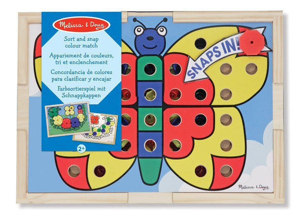 Concordancia de colores para clasificar y encajar - Melissa and Doug - Sort-and-Snap Colour Match
