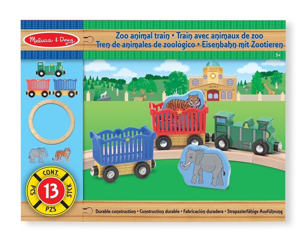 TREN DE ANIMALES DE ZOOLOGICO - MELISSA & DOUG - ZOO ANIMAL TRAIN