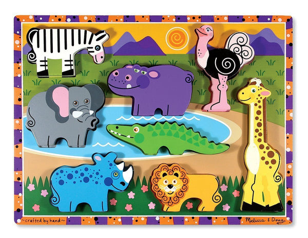Rompecabezas de madera Safarí - Melissa and Doug - Safari Animals