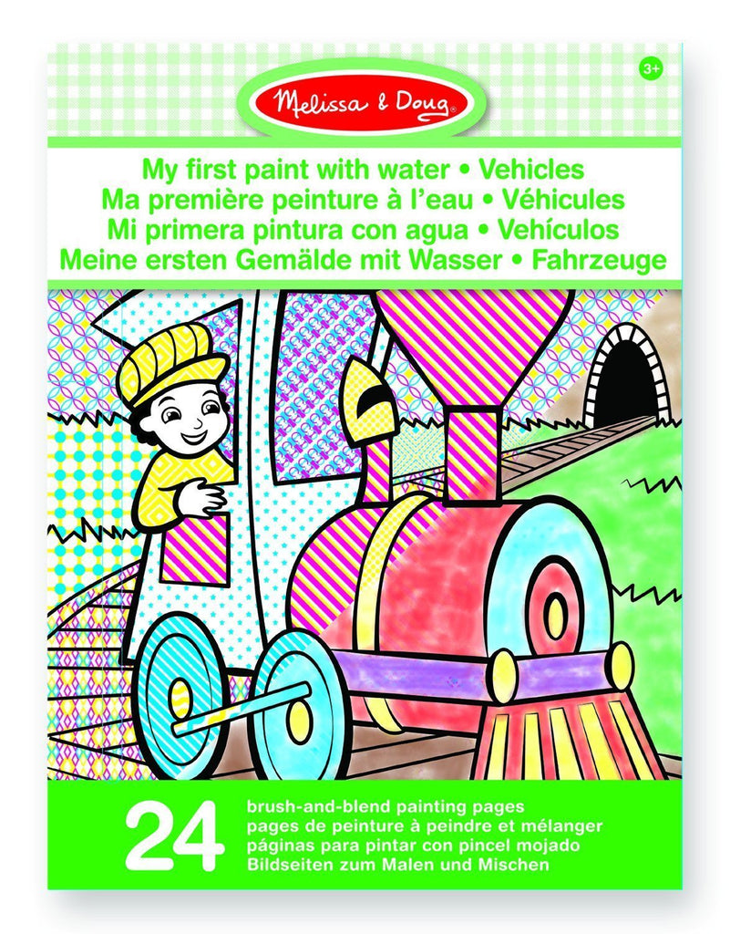 Mi primer pintura de agua vehículos - Melissa & Doug - My first paint with water vehicles