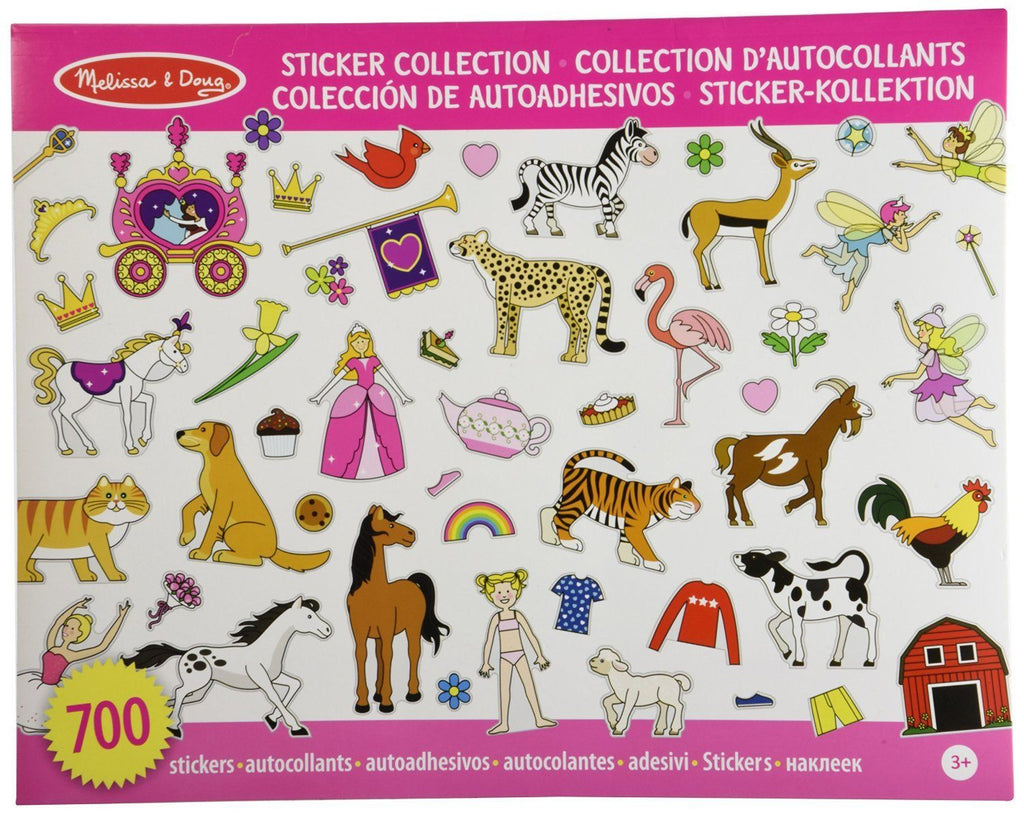Colección de autoadhesivos rosa - Melissa & Doug - Sticker Collection Pink