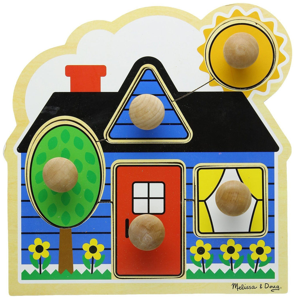 "Rompecabezas con clavijas grandes ""Primeras formas"" - Melissa and Doug - First Shapes"