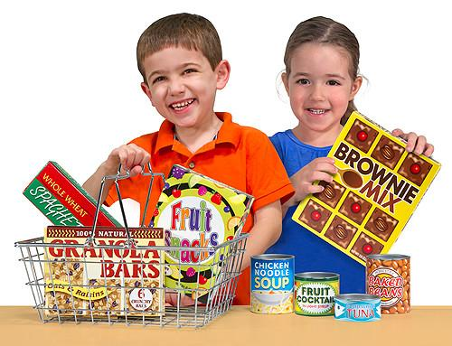 Cesta de compras Canastilla - Melissa and Doug - Let's Play House! Grocery Basket with Play Food