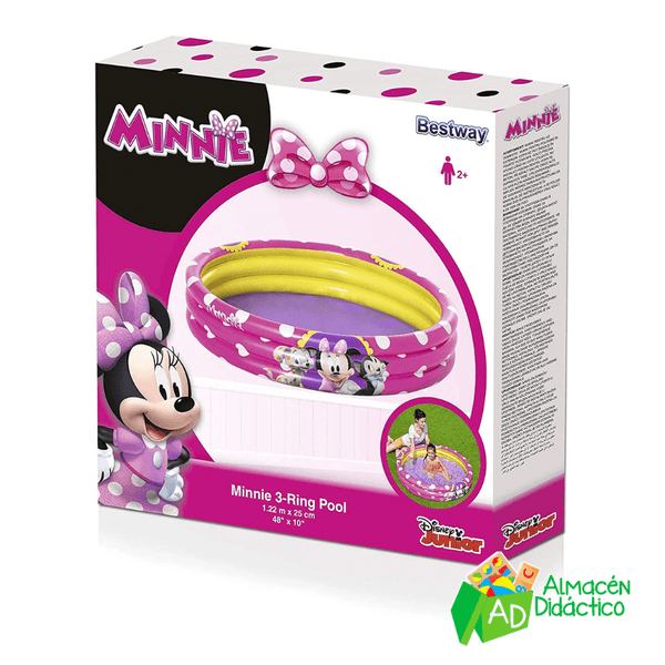 ALBERCA INFLABLE MINNIE ROSA