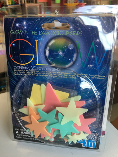 GLOW IN THE DARK COLOURING STARS - Estrellas de colores fosforescentes -