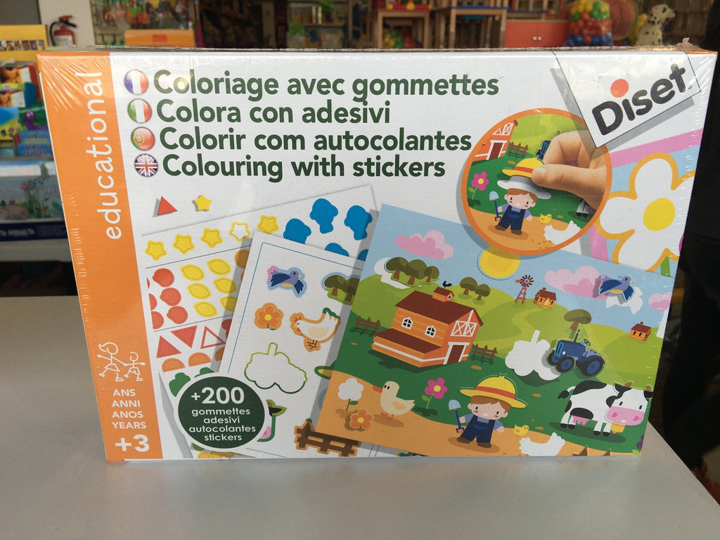 COLOURING WITH STICKERS