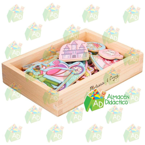 Imanes de madera de princesa - Melissa and Doug - Princess Magnets