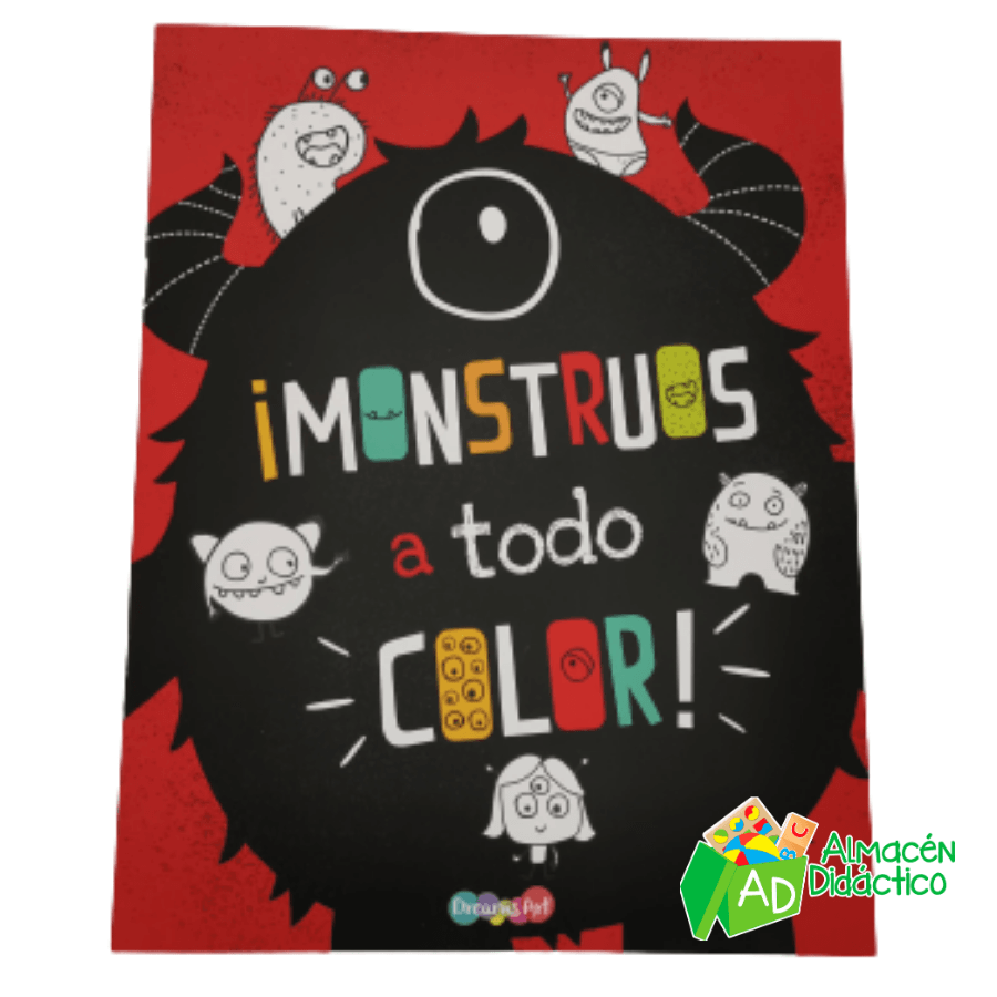 LIBRO MONSTRUOS A TODO COLOR