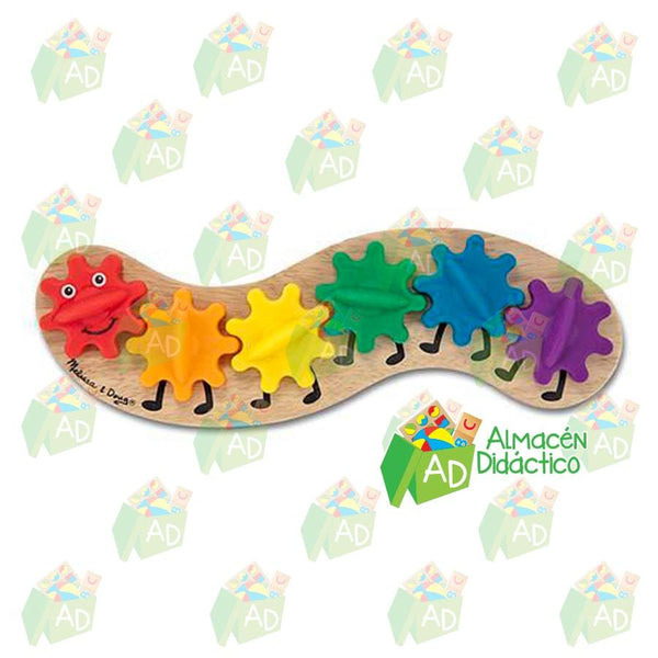 Oruga arcoiris - Melissa & Doug - Caterpillar Gear Toy