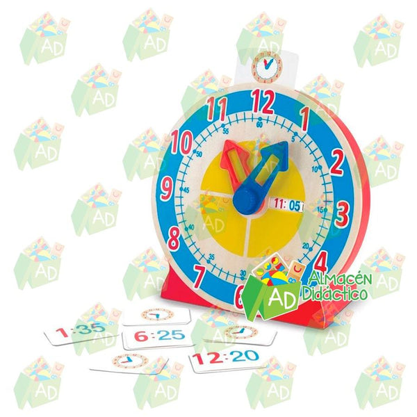 Reloj para girar y ver la hora - Melissa and Doug - Turn & Tell Clock