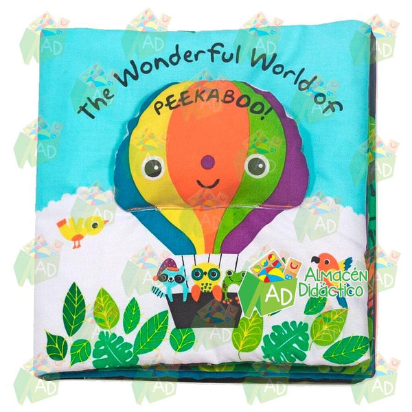 LIBRO DE TELA EL MARAVILLOSO MUNDO DE PEEKABOO!  - MELISSA & DOUG - THE WONDERFUL WORLD OF PEEKABOO!