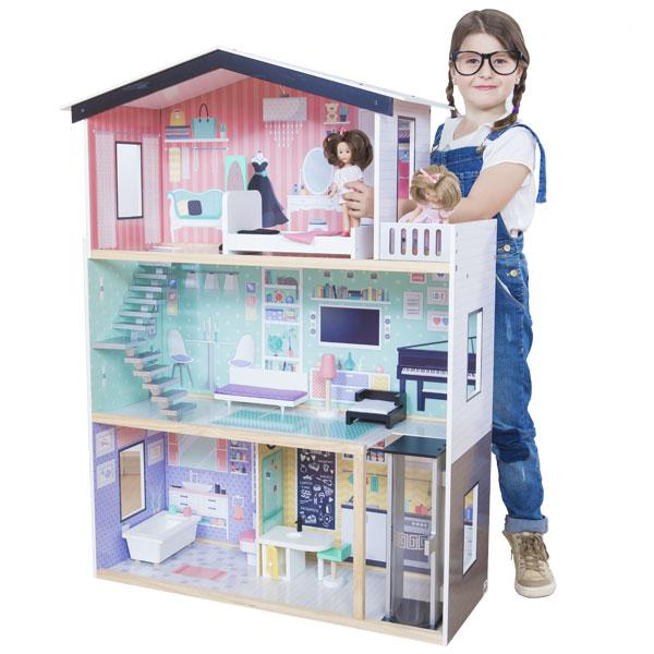 CASA DE MUÑECAS GIGANTE TRENDY MANSION - EUREKAKIDS - GIANT DOLL HOUSE