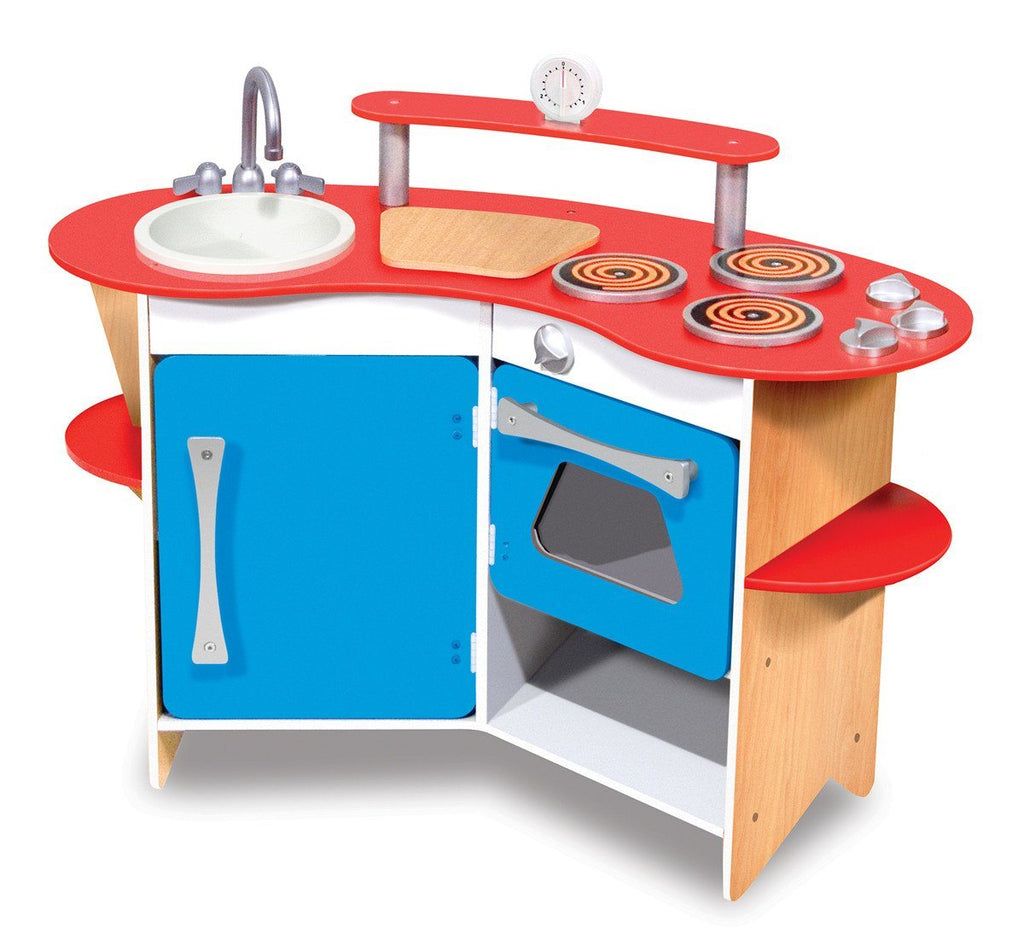 Cocina -Cook's Corner Wooden Play Kitchen - Cocinita