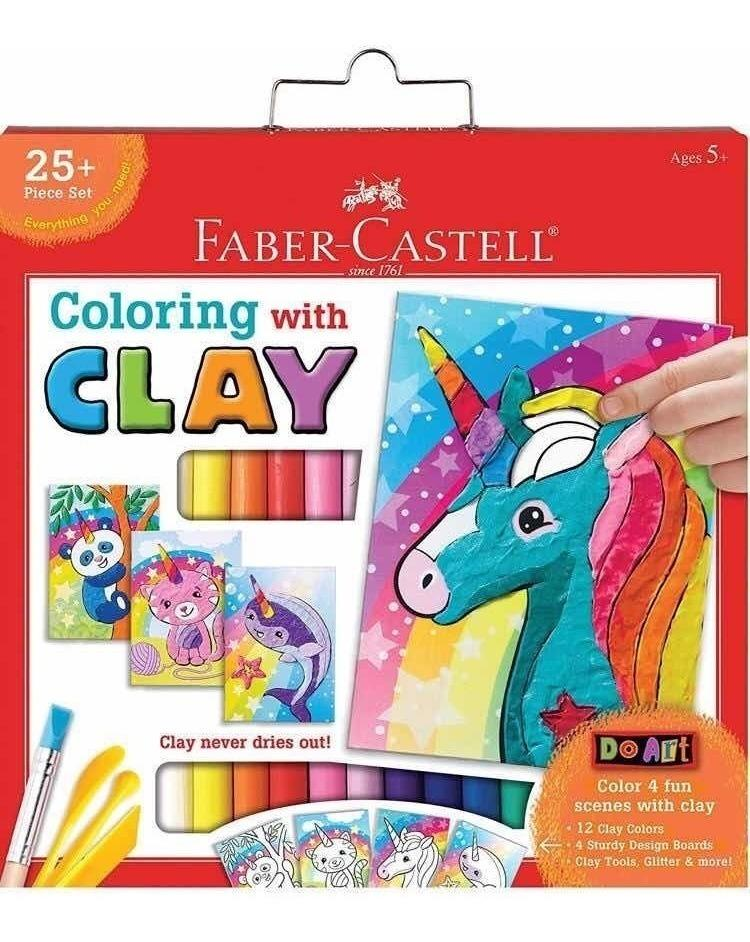 COLOREA CON PLASTILINA AL UNICORNIO - FABER CASTELL - DO ART COLING WITH CLAY UNICORN