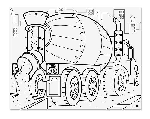 Bloc gigante para colorear vehículos - Melissa & Doug - Jumbo colouring pad vehicles