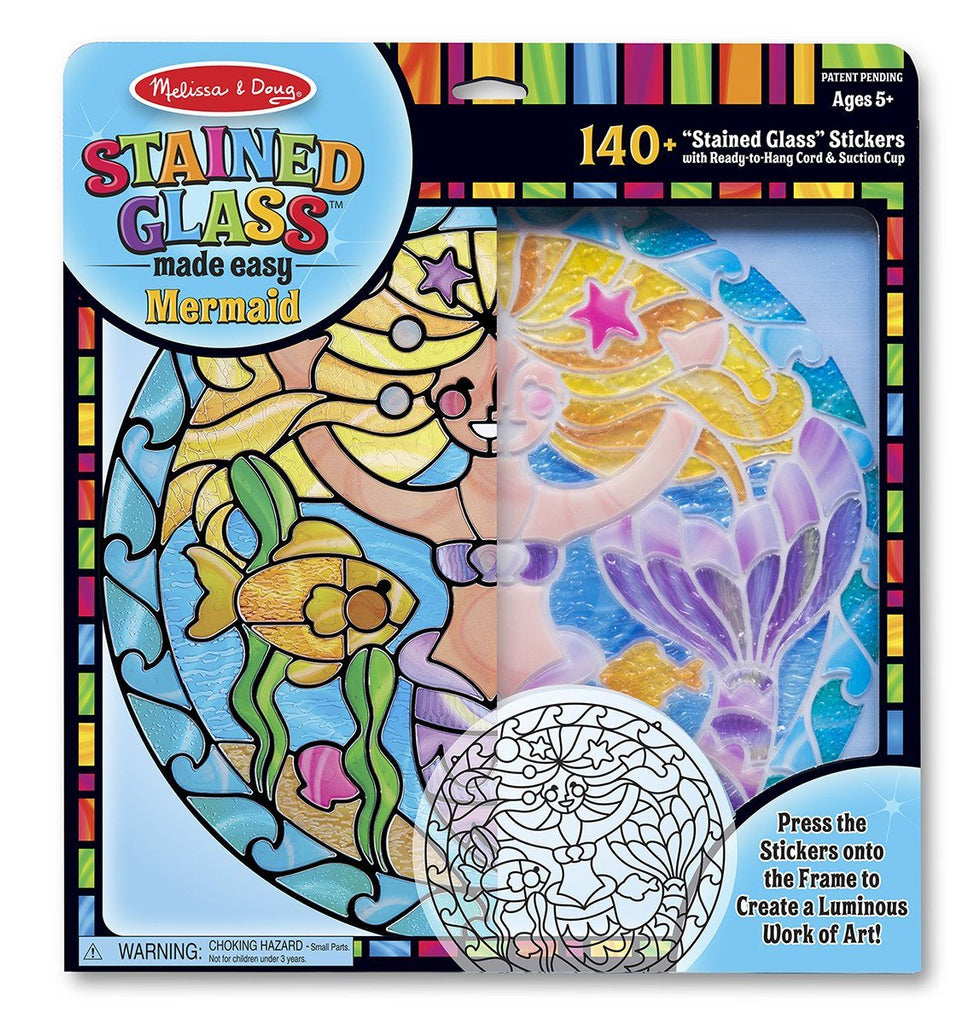 Vitral Sirena - Melissa & Doug - Stained Glass Made Easy Mermaid