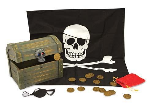 Cofre de madera de pirata - Melissa and Doug - Pirata Chest