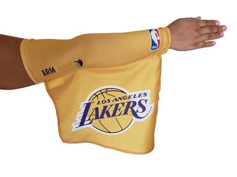 LOS ANGELES LAKERS NBA ARM WAVE SLEEVE Flag, Coming Soon.. Not for sale yet