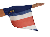 "COSTA RICA ARM and FOOT FLAGS, for sale! Purchase ONE DOZEN (12) ""Wholesale"""