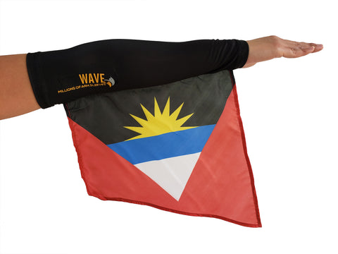 Antigua Black arm wave arm sleeve Flag