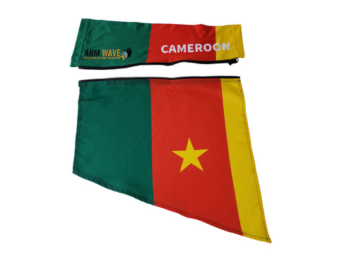 CAMEROON ARM WAVE SLEEVE FLAG (Arm band, Sleeve, Leg Flag)