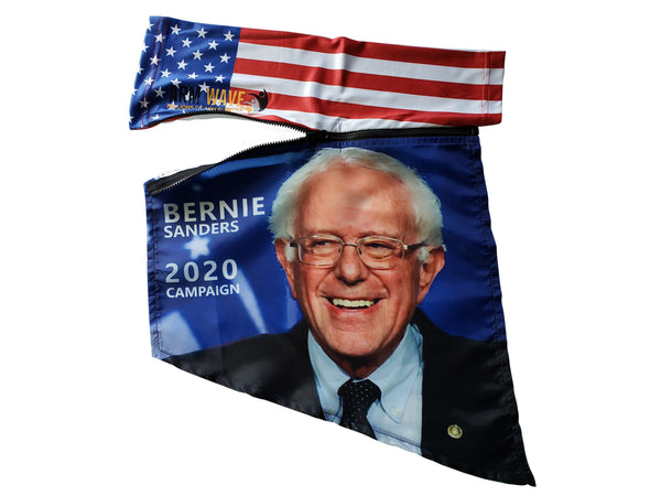 "Bernie Sanders personal Arm Wave ""hand-free, hassle-free arm sleeve flag with his face on the flag portion"