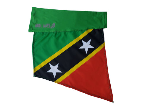 ST. KITTS and NEVIS ARM FLAG (ARM SLEEVE, ARM BAND) Reflective Arm Wave logo