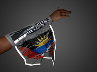 Antigua Reflective Arm and foot Flag, the Sleeve that lights up, when light hits it.