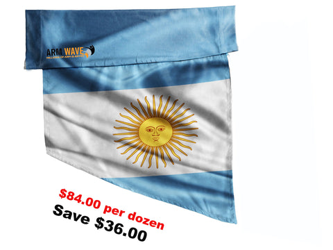 ARGENTINA FLAG, purchase ONE DOZEN (12), at Wholesale price $7.00 per Flag