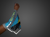 BAHAMAS REFLECTIVE ARM and Foot Sleeve FLAG that lights up in the dark when light hits it.