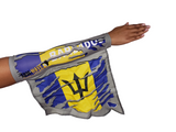 BARBADOS CAMOUFLAGE ARM and FOOT FLAG (ARM SLEEVE, BAND) new WEARABLE FLAGS for CARNIVAL