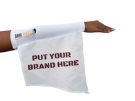 CUSTOMIZE WHITE ARM SLEEVE AND Leg FLAG, add logo, image or your brand
