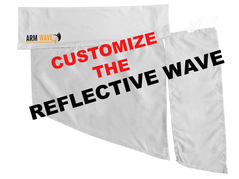 ARM WAVE REFLECTIVE WAVE SLEEVE Bulk order $10.99 per design minimum order 100 PCS