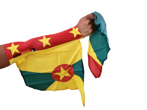 GRENADA WAVE SLEEVE, wearable Sleeve Flag, light and comfortable