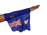ANGUILLA ARM WAVE FLAG (Arm Band, Arm Sleeve) for Carnival