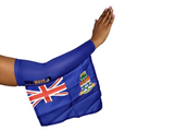 CAYMAN ISLAND ARM and FOOT FLAG (Arm Sleeve/Band) best for carnival, sports and cheering.