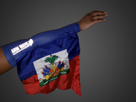 HAITI ARM and LEG FLAG (Arm Band, Sleeve) with Arm Wave reflective logo.